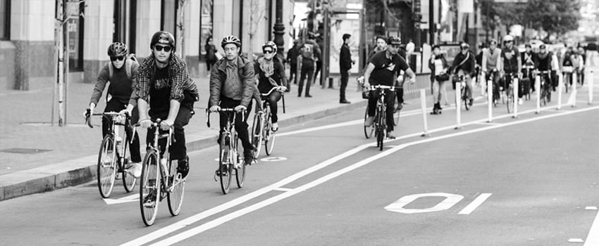 Picture of cyclists